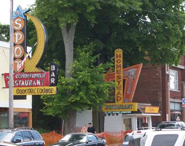 Downtown Alexandria Bay NY Neon