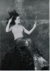 Barbara Wynns performing as a mermaid in the late 60's.