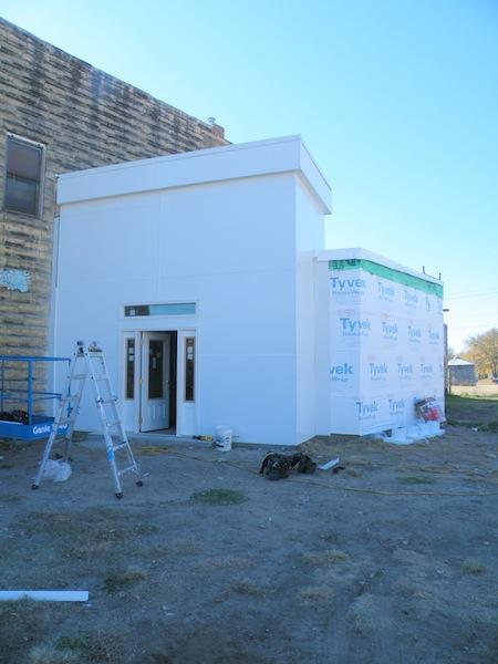 Front of Restroom under construction