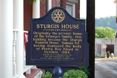 Historic Marker at Sturgis House