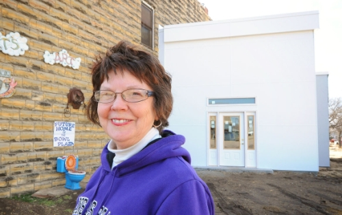 Rosslyn Schultz, curator of the Grassroots Museum, Lucas, KS