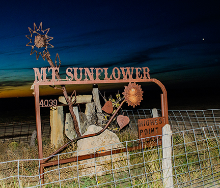 72 Mt. Sunflower At twilight