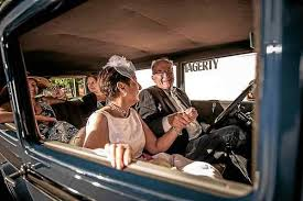 Couple in 1930 Ford Model A