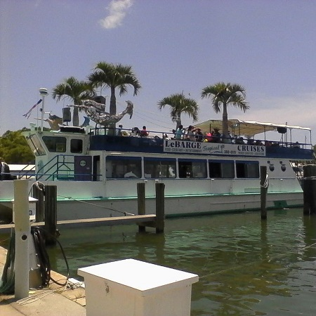 2 hour sunset cruise departs several times a day from the marina In down town Sarasota Florida