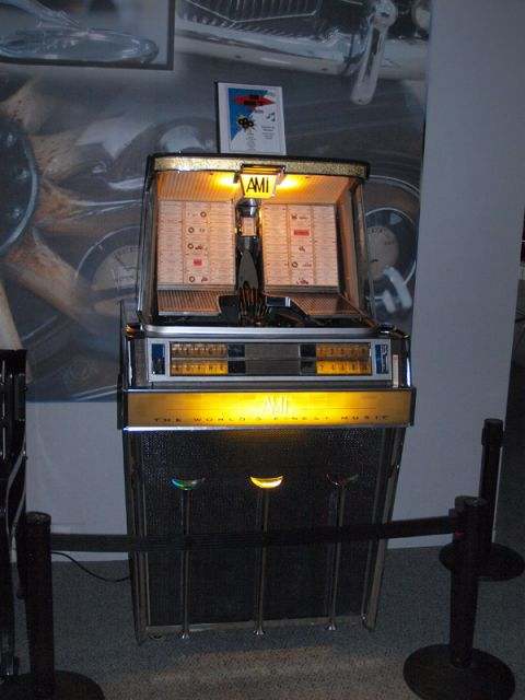 This 60's era AMI Jukebox is one of three currently in operation at the museum