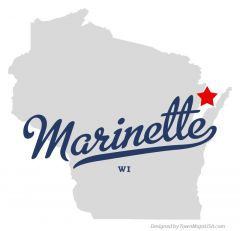 Map Of marinette Wi